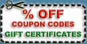 Coupon codes and gift certificates